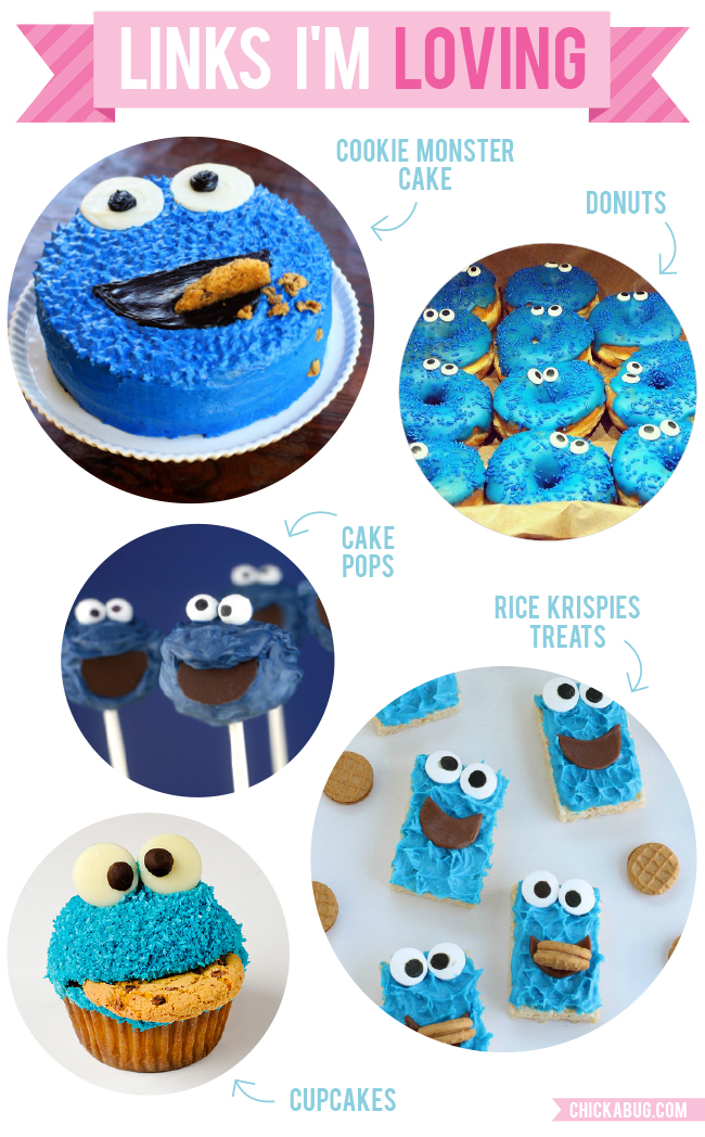 Cute Cookie Monster desserts for a Sesame Street party!