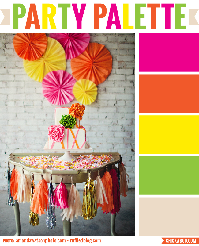 Neon and neutral #colorpalette