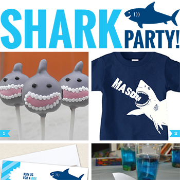 14 Fin-tastic Shark Party Ideas! #sharkparty #sharkweek