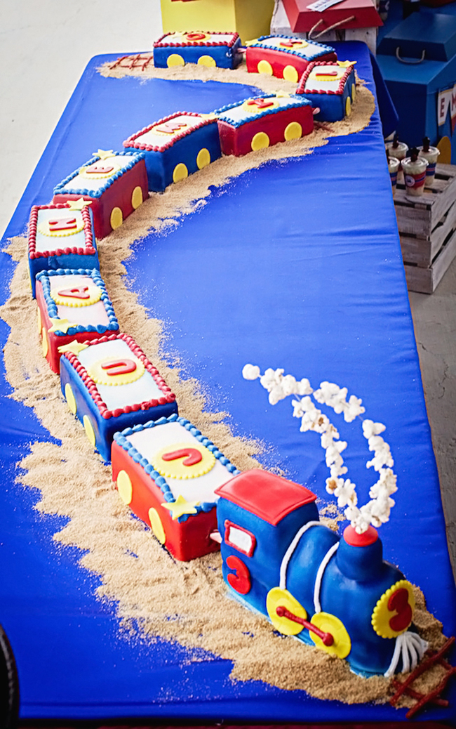 Awesome train birthday cake!