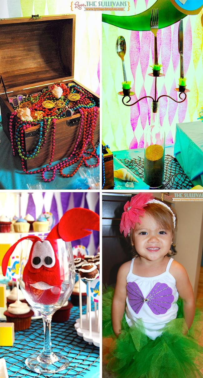 Little Mermaid theme birthday party