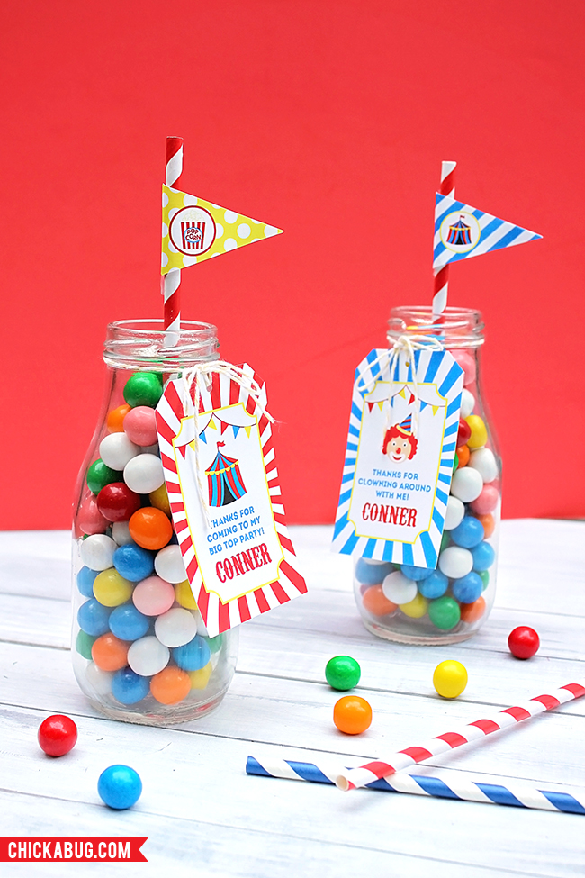 How to make cute carnival or circus party favors!