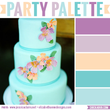 Tropical wedding cake #colorpalette