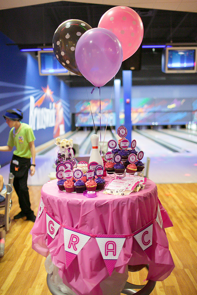 PINK bowling birthday party!