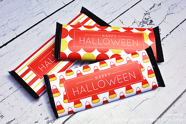 Free printable Halloween Hershey labels