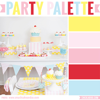 Cute as a cupcake party #colorpalette