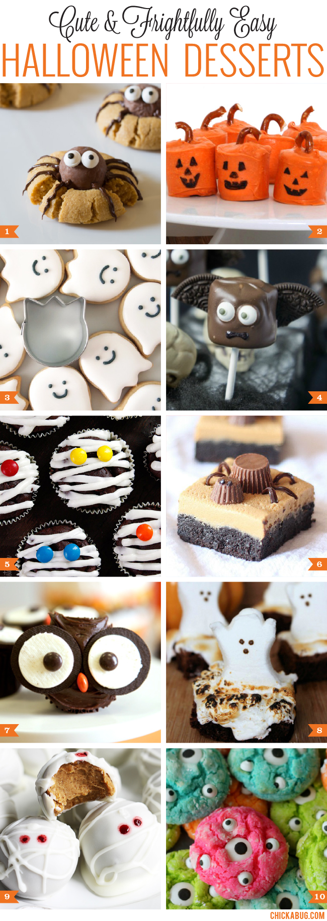 Cute and easy Halloween desserts!