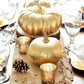 Gorgeous gilded pumpkins