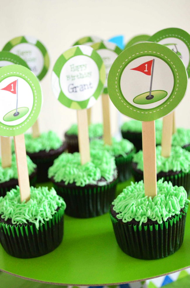 Golf theme party printables from Chickabug