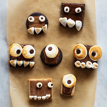 "Monster s'mores from ""Candy Aisle Crafts"" by Jodi Levine"