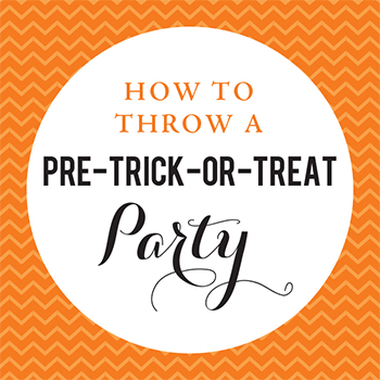 How to throw a pre-trick-or-treat party - a mini party that's fun and easy!