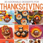 30 adorable Thanksgiving desserts. These are seriously SO CUTE and easy to make, too!