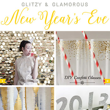 Glitzy and glamorous DIY New Year's Eve ideas