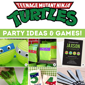 Awesome TMNT party decor, party activities, and games! Tons of ideas!! #TMNT #TMNTparty