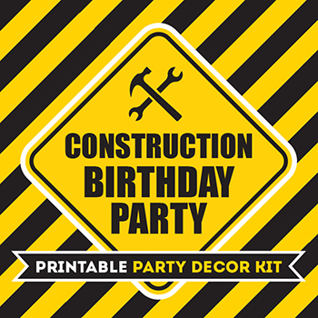 picture about Construction Signs Printable titled Significant composition celebration printable package - 75+ web pages of