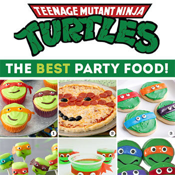 All the BEST Teenage Mutant Ninja Turtles party food ideas, together in one place! #TMNT #TMNTparty