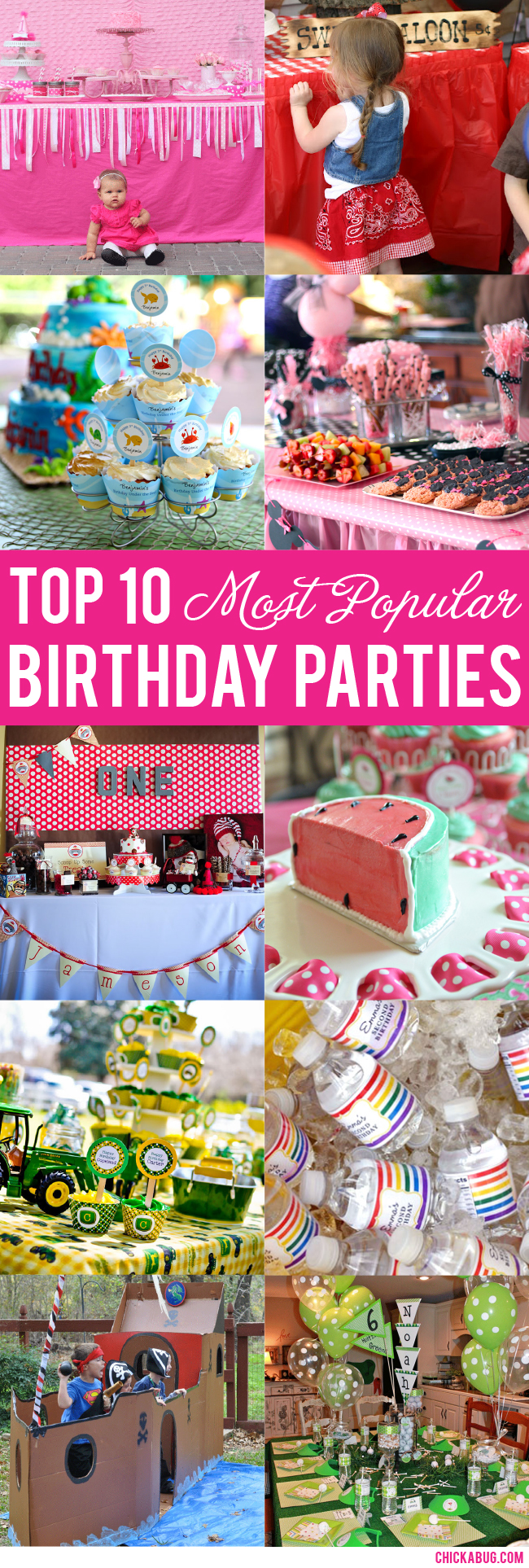 Top 10 Most Popular Birthday Parties :: Awesome ideas for boys' and girls' parties!