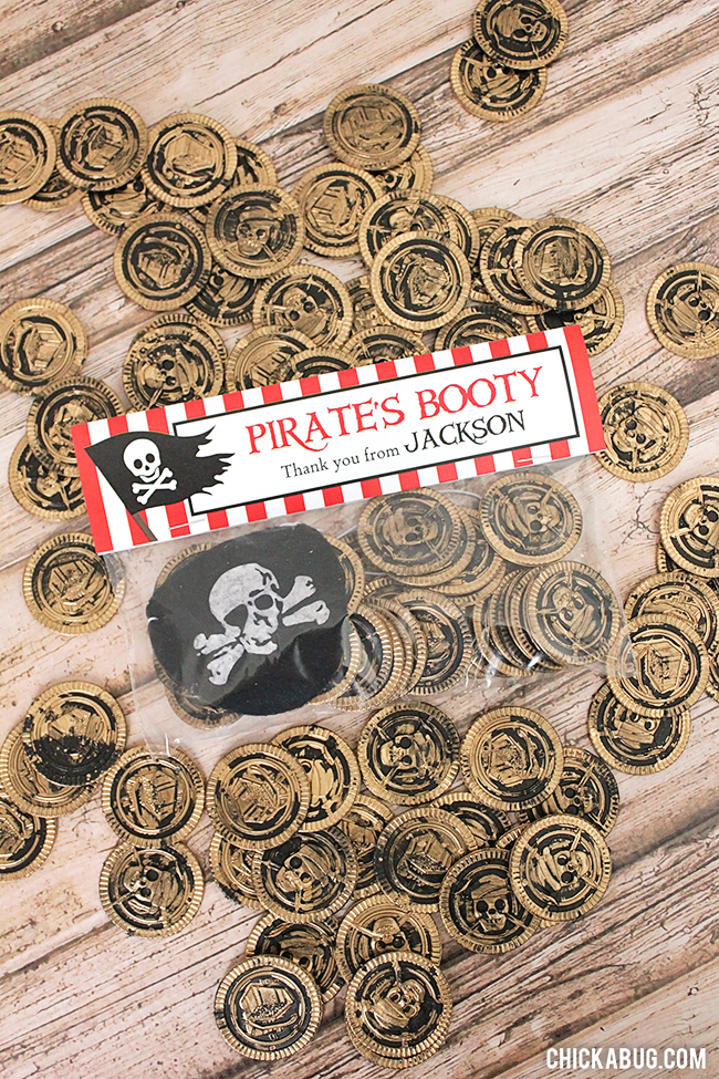 Quick, easy, AWESOME pirate party favors!