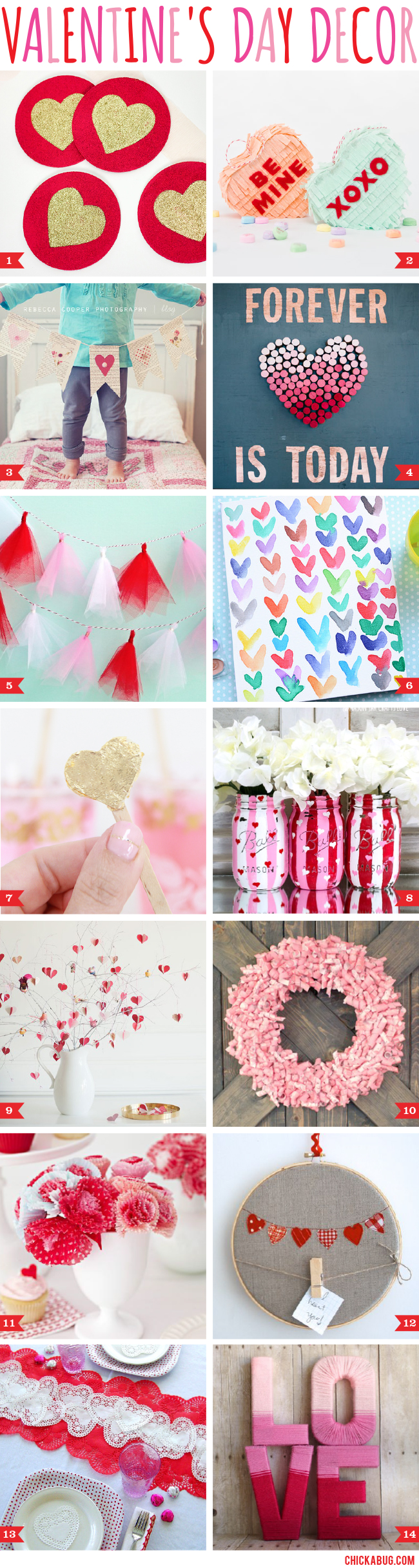 14 adorable Valentine's Day decor ideas! #valentinesday