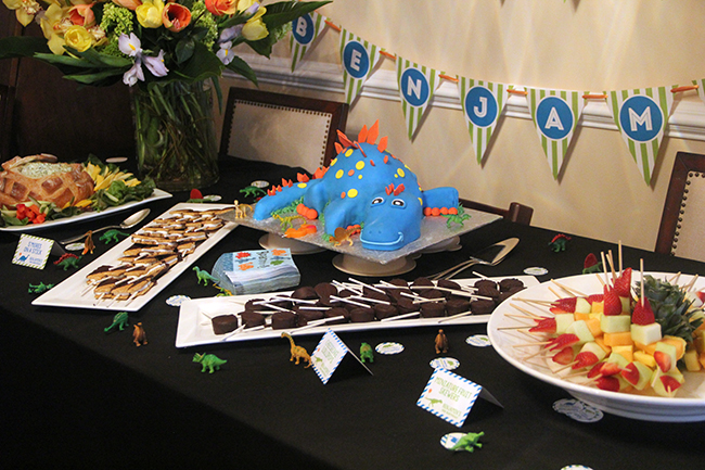 Dinosaur theme birthday party!