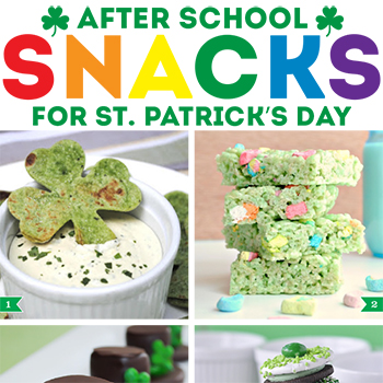 After-school snacks for St. Patrick's Day!