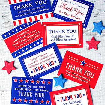 "Free Printable ""Honor Our Armed Forces"" Cards - a small but meaningful way to say thank you to our military"