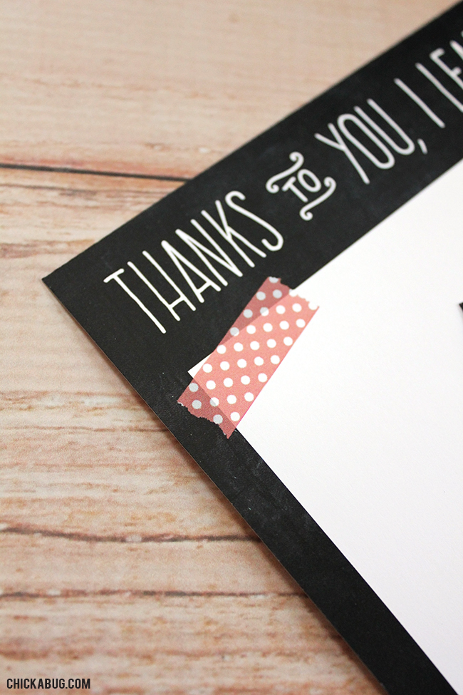 Free printable teacher appreciation notecards from #Chickabug. Make a thoughtful gift out of a single sheet of paper!