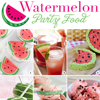 Watermelon party food! Tons os great ideas here!!