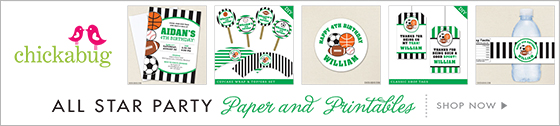 All star party paper goods and printables from Chickabug!