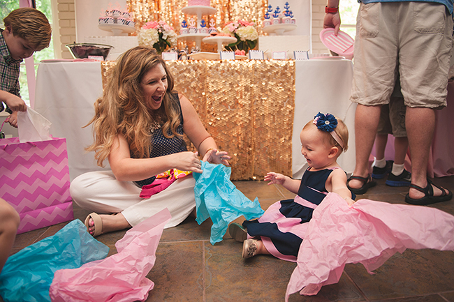 Gorgeous and glamorous pink nautical first birthday party!