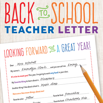 getting to know you letter to teacher