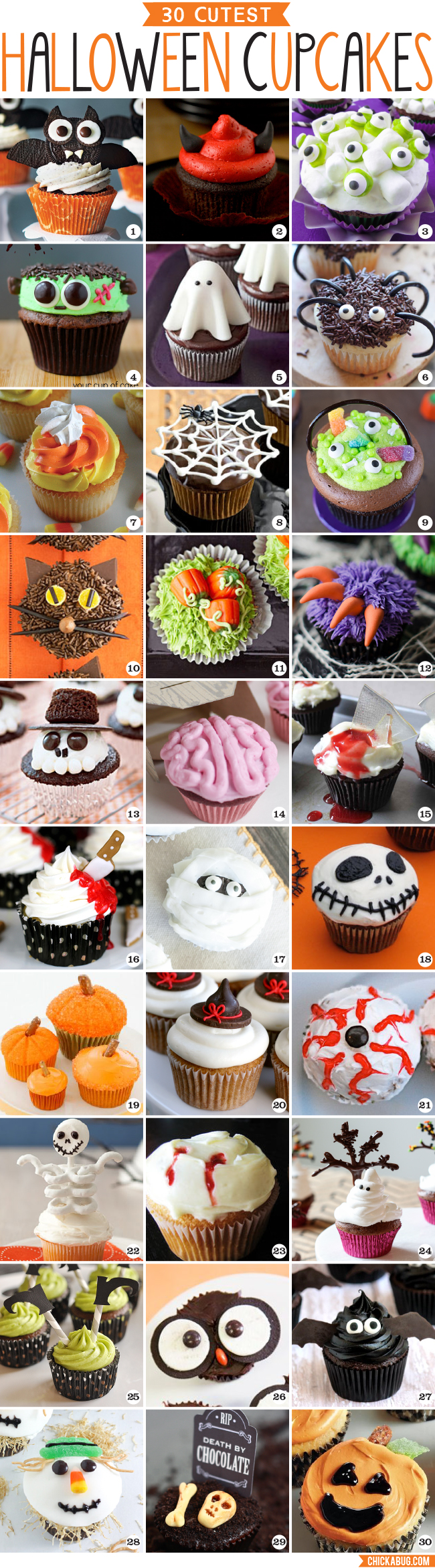 30 Cutest Halloween Cupcakes! Adorable ideas for Halloween cupcake decorating!