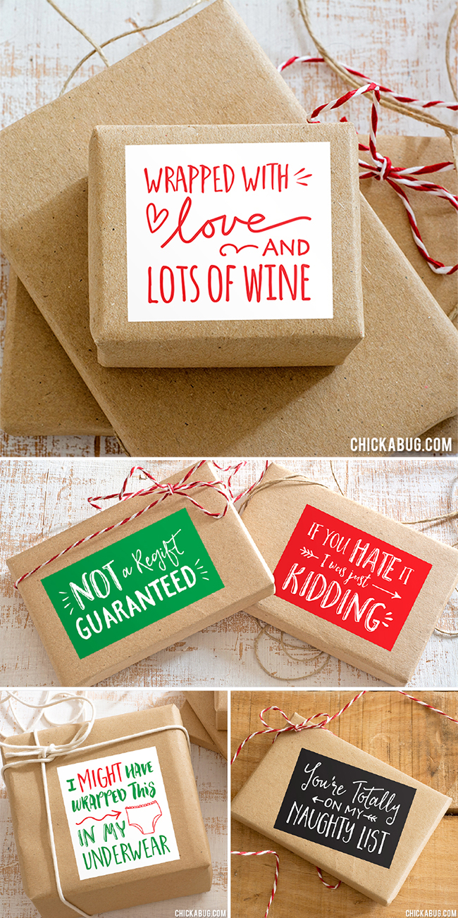 LOL Christmas Gift Stickers - Set of 15 - So fun to use on your Christmas presents!