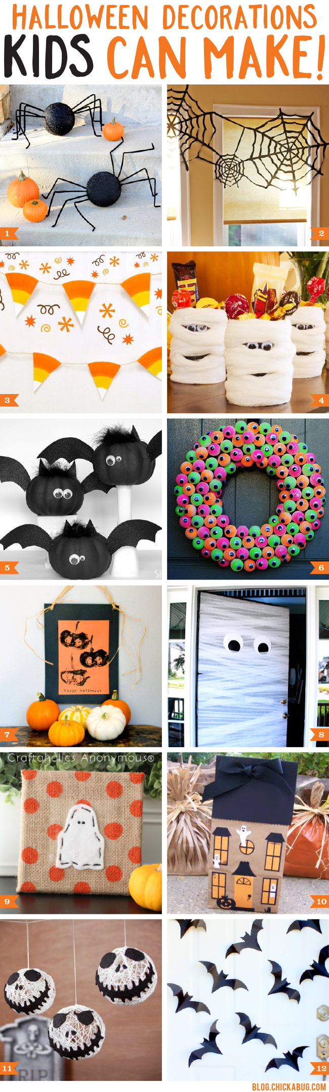 Halloween decorations kids can make