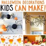 Halloween decorations kids can make! Easy, fun, and CUTE decorations that kids can make and you'll love displaying.