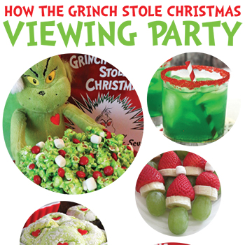 grinch viewing party ideas chickabug - How The Grinch Stole Christmas Decorating Ideas