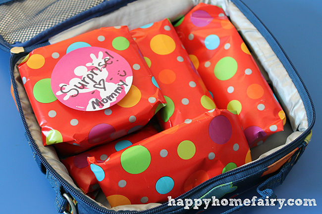 A fun birthday tradition - gjft wrap your child's lunch!