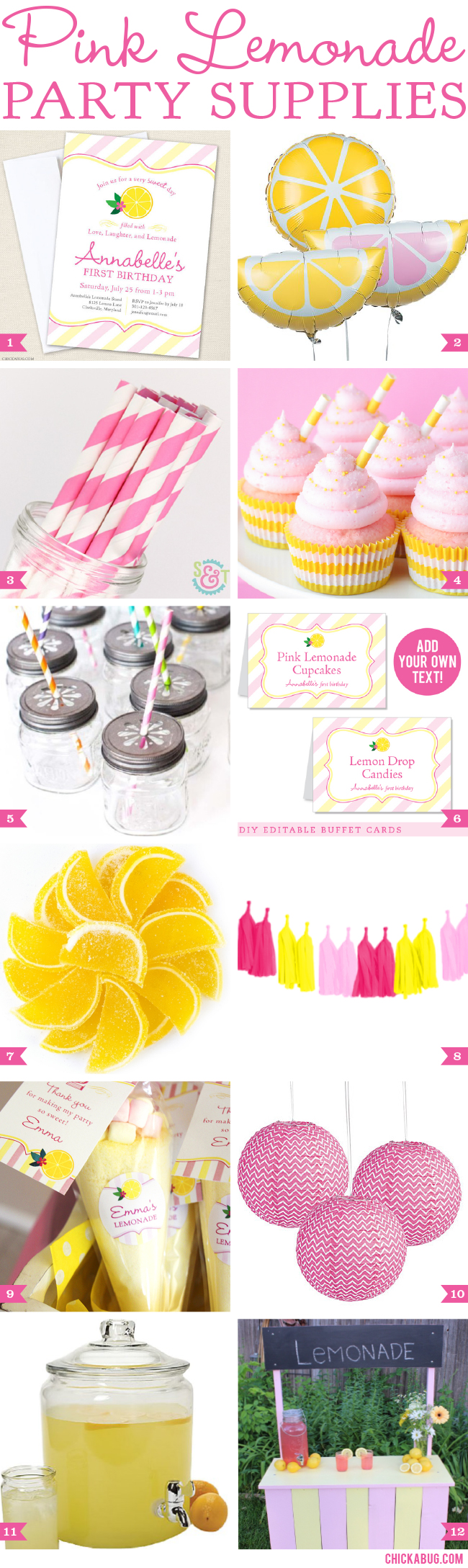 Pink Lemonade Party Supplies. The sweetest goodies you'll need for your pink lemonade party!