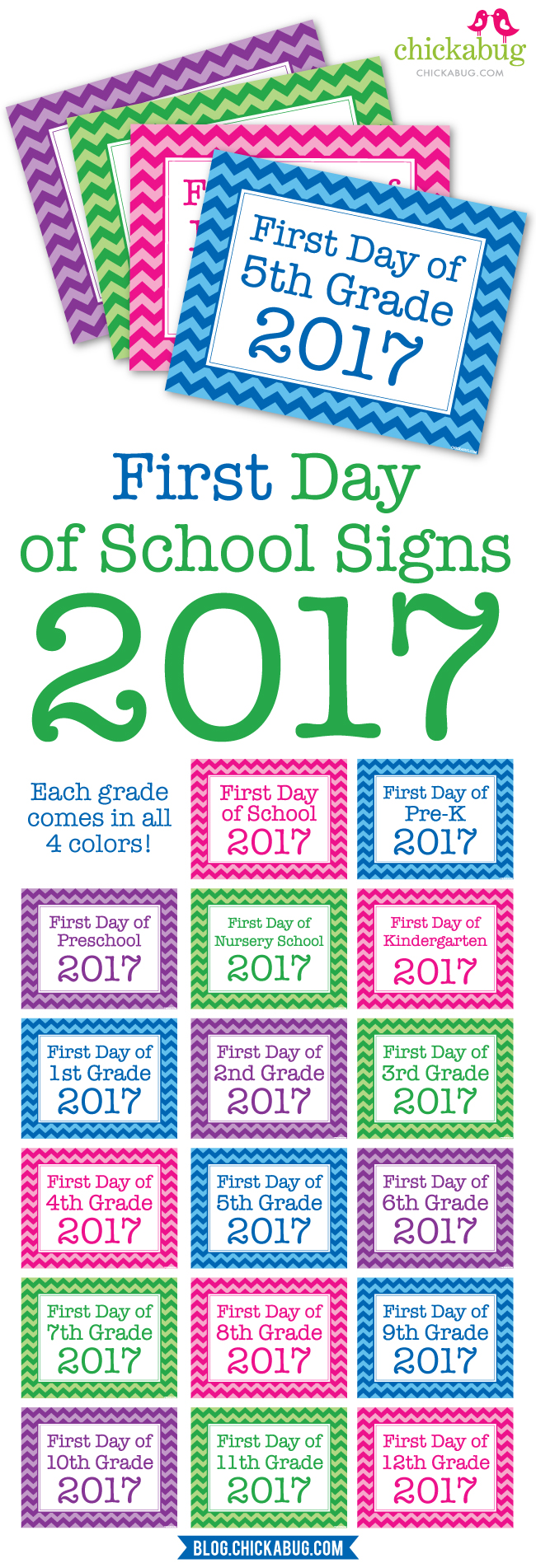 First day of school signs 2017