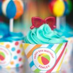 Pool birthday party! Printables from Chickabug