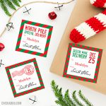 """Don't risk your kids recognizing Mom and Dad's handwriting on the """"from Santa"""" gift labels under your Christmas tree - use these personalized stickers to label their presents instead! They're addressed to your child and signed by Santa himself. They look super official, because they came through the North Pole mail system, of course!"""