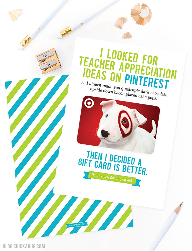 photograph about Printable Teacher Appreciation Card named Free of charge Printable for Trainer Appreciation 7 days Chickabug