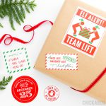 Santa's Workshop Gift Stickers (Set of 14) - Make Christmas magic!