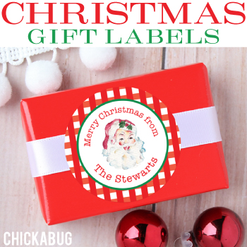 Personalized Christmas gift labels. Lots of sweet designs to choose from!