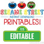 Instant Download Sesame Street Birthday Party Printables! Including EDITABLE STREET SIGNS in all different sizes!