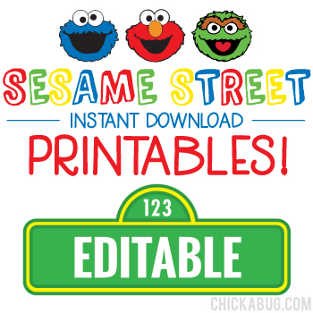 graphic about Printable Street Signs known as Sesame Road Birthday Printables - Such as Editable