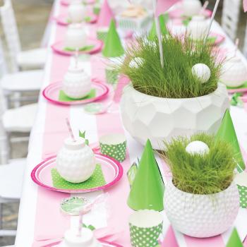 Pink golf birthday party