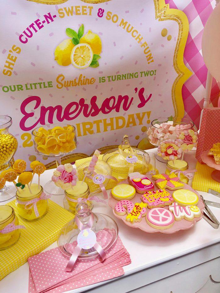 Pleasant Pink Lemonade Party Emerson Is 2 Chickabug Funny Birthday Cards Online Drosicarndamsfinfo