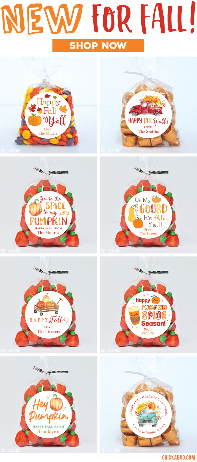 NEW for Fall! Personalized Fall Stickers