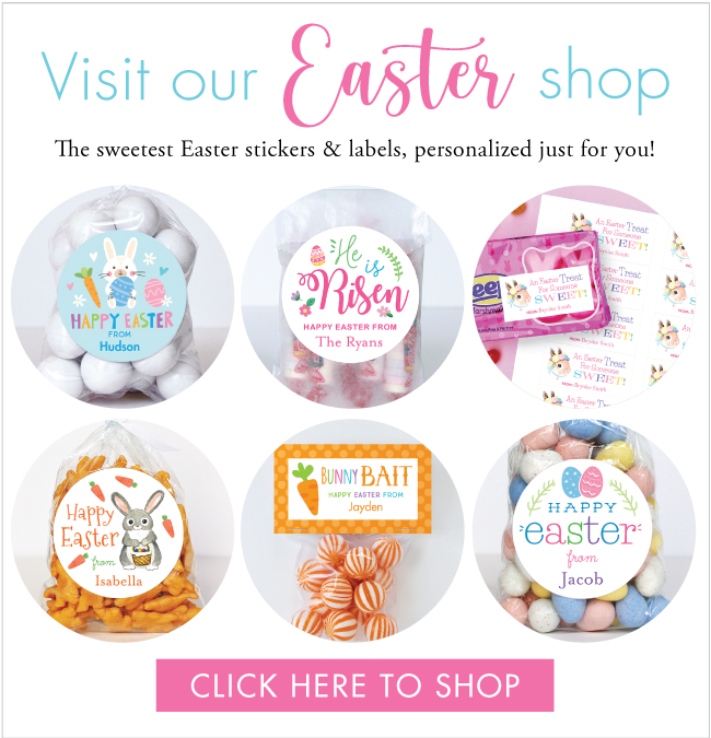 Easter stickers, candy bags and more at Chickabug.com